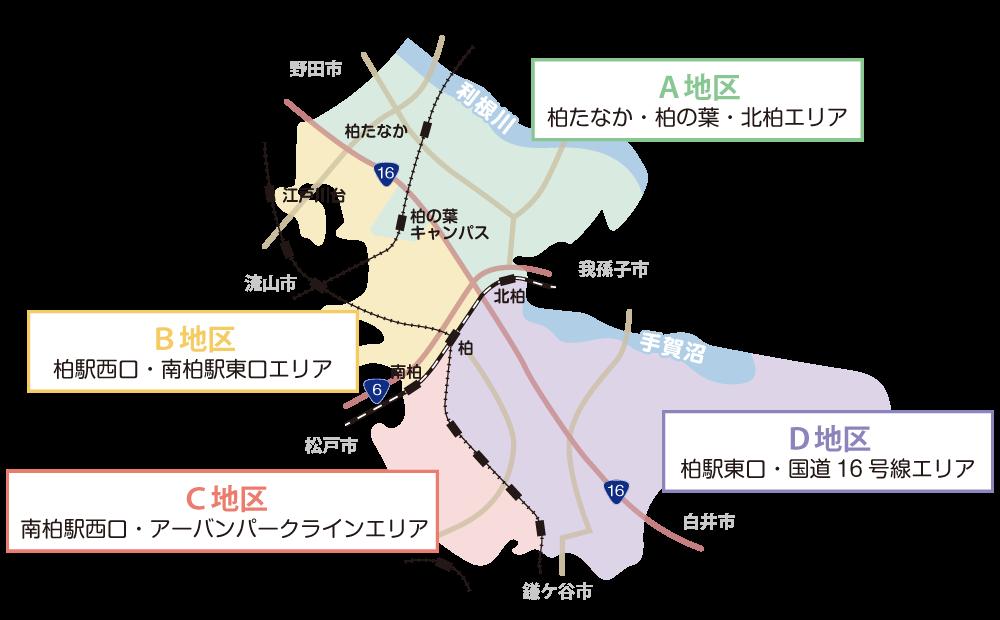 柏地区マップ